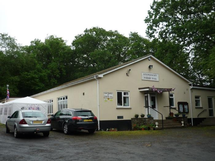 alverdiscott parish hall exterior and car park