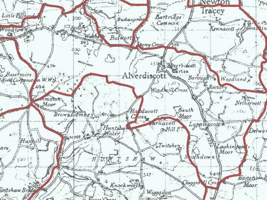 alverdiscott parish boundary map