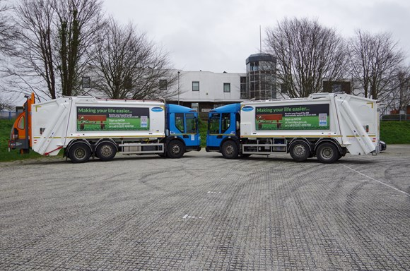 north devon waste collection trucks
